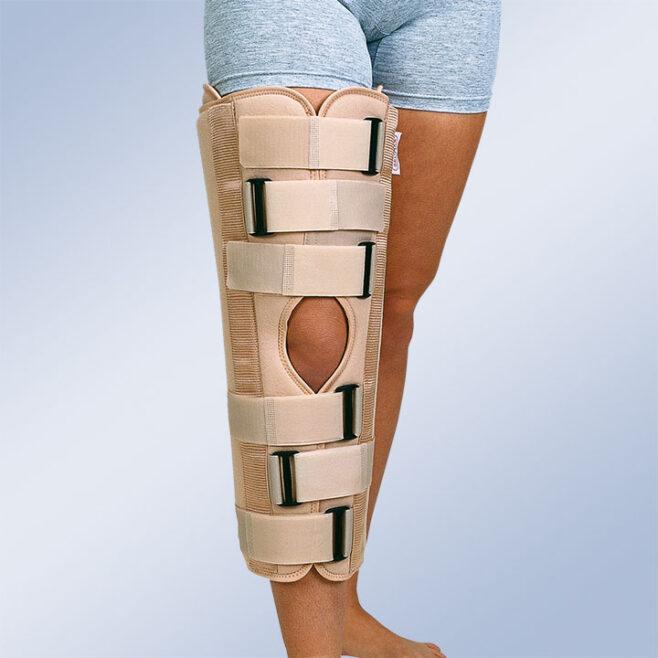 Ortesis inmovilizadora de rodilla de 3 paneles